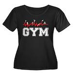 Gym Women's Plus Size Scoop Neck Dark T-Shirt