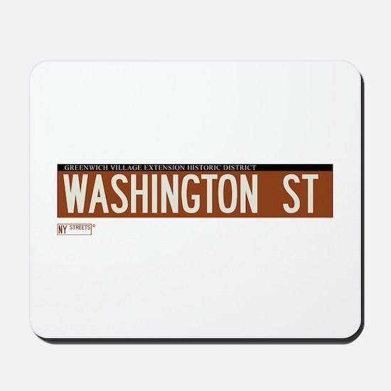 Washington Street in NY Mousepad