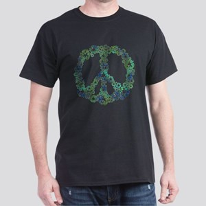 Blue Recycle Peace Dark T-Shirt