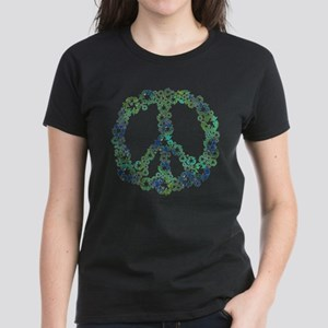 Blue Recycle Peace Women's Dark T-Shirt