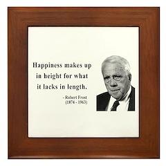 Robert Frost 4 Framed Tile
