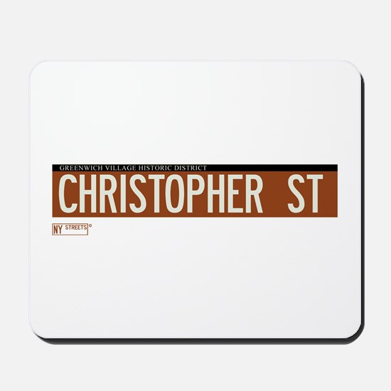 Christopher Street in NY Mousepad