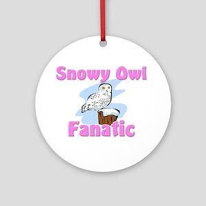 Snowy Owl Fanatic Ornament (Round)