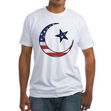 American Muslim Fitted T-Shirt