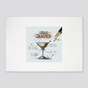 Dirty Martini (White) 5'x7'Area Rug