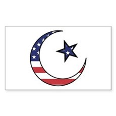 American Muslim Rectangle Sticker