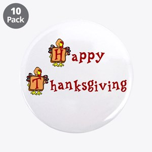 """Happy Thanksgiving 3.5"""" Button (10 pack)"""