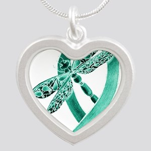 Teal Ribbon Necklaces