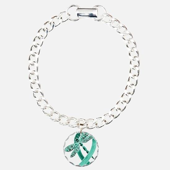 Teal Ribbon Bracelet