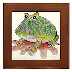 Pac-Man Frog Framed Tile