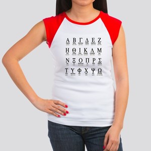 Greek Alphabet Women's Cap Sleeve T-Shirt