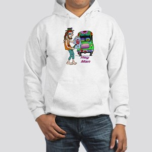 Hey Man- Hippie & Van Hooded Sweatshirt