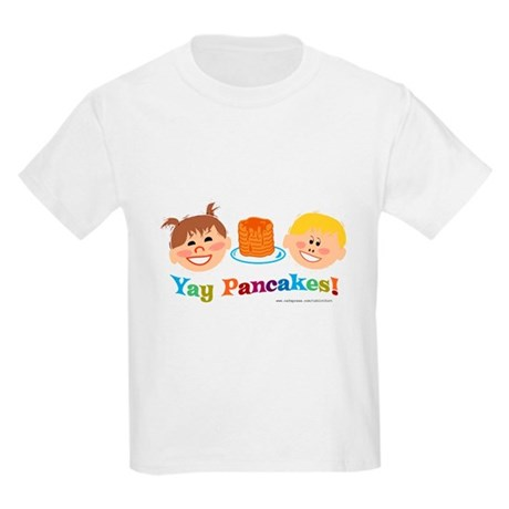 Yay Pancakes! Kids Light T-Shirt