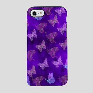Purple Butterflies iPhone 8/7 Tough Case