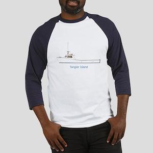 Tangier Island Deadrise Boat Baseball Jersey