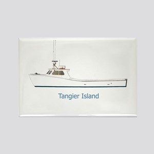 Tangier Island Deadrise Boat Rectangle Magnet