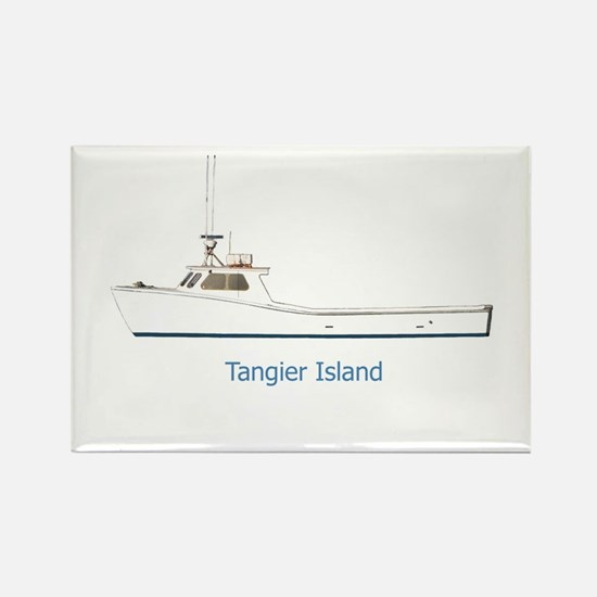Tangier Island Deadrise Boat Rectangle Magnet