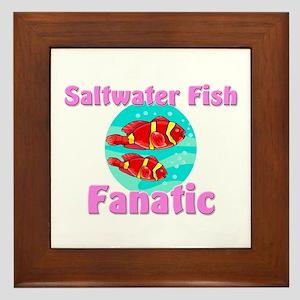 Saltwater Fish Fanatic Framed Tile