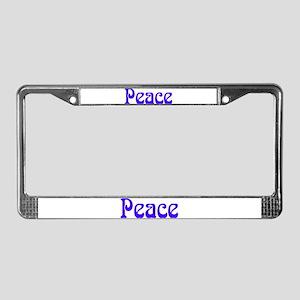 PEACE License Plate Frame