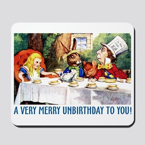 A Very Merry Unbirthday! Mousepad