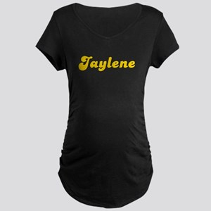 Retro Jaylene (Gold) Maternity Dark T-Shirt