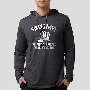 Viking Navy Long Sleeve T-Shirt