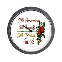 Exciting 52nd Wall Clock