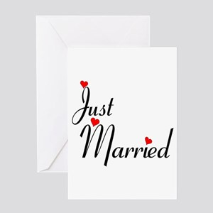 Bachelorette party sayings greeting cards cafepress just married greeting card m4hsunfo