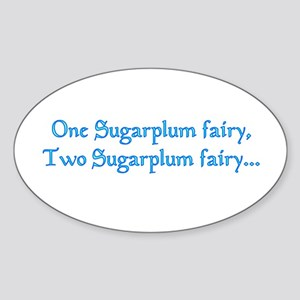 Sugarplum Fairy Oval Sticker