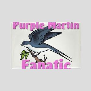 Purple Martin Fanatic Rectangle Magnet
