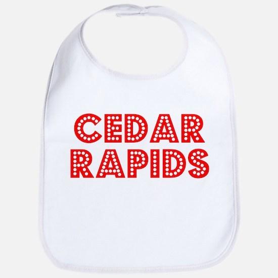 Retro Cedar Rapids (Red) Bib