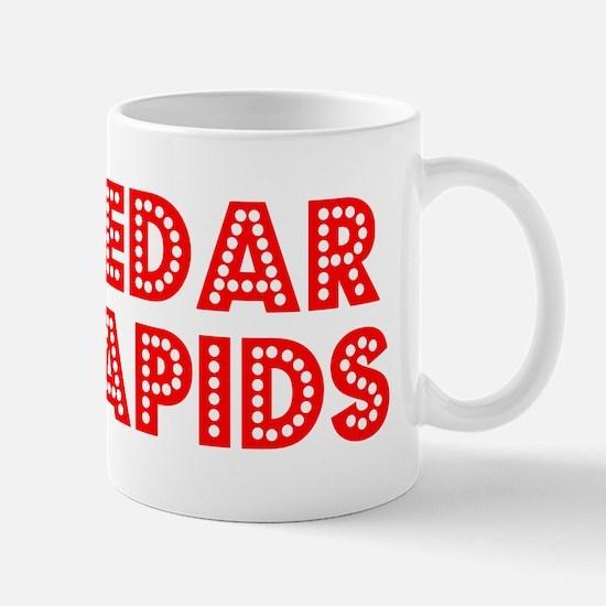 Retro Cedar Rapids (Red) Mug