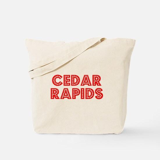 Retro Cedar Rapids (Red) Tote Bag