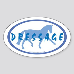Trot Oval Hand Text (blue) Oval Sticker