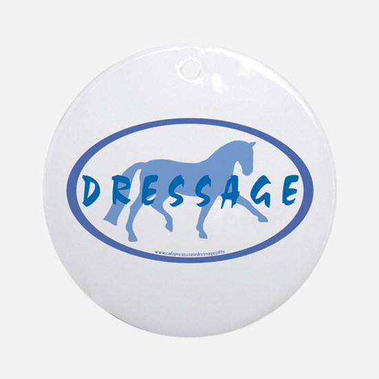 Trot Oval Hand Text (blue) Ornament (Round)