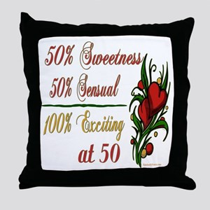 Exciting 50th Throw Pillow