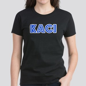 Retro Kaci (Blue) Women's Dark T-Shirt