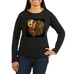 Common Wood Nymph Women's Long Sleeve Dark T-Shirt