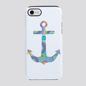 Blue Dotted Anchor iPhone 8/7 Tough Case