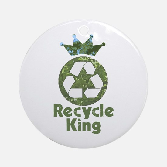 Recycle King Ornament (Round)