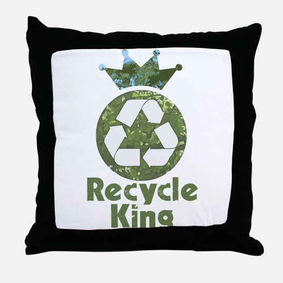 Recycle King Throw Pillow