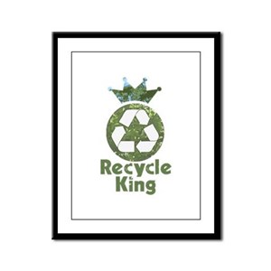 Recycle King Framed Panel Print