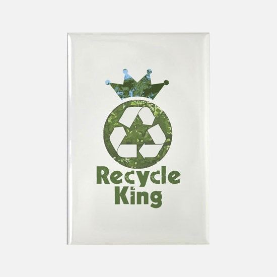 Recycle King Rectangle Magnet