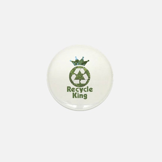 Recycle King Mini Button