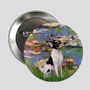 Lilies & Toy Fox Terier Button