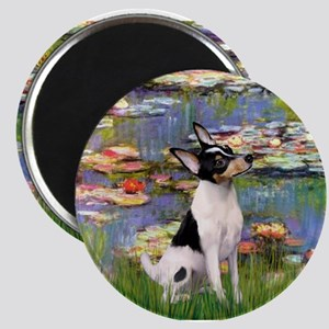 Lilies & Toy Fox Terier Magnet