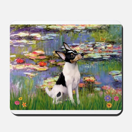 Lilies & Toy Fox Terier Mousepad