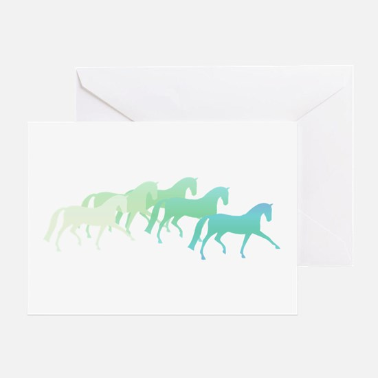 Extended Trot Greens Greeting Card