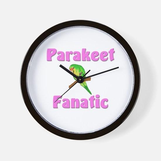 Parakeet Fanatic Wall Clock