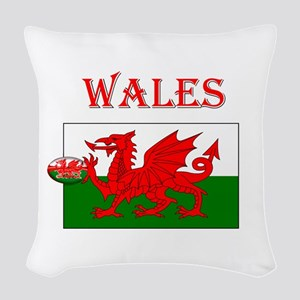 Wales Rugby Woven Throw Pillow